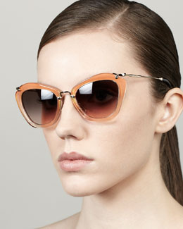 Miu Miu Glitter Catwalk Sunglasses, Orange