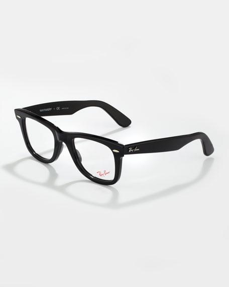 Wayfarer Fashion Glasses, Black