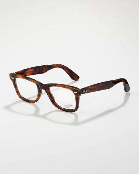 Wayfarer Fashion Glasses, Yellow Tortoise