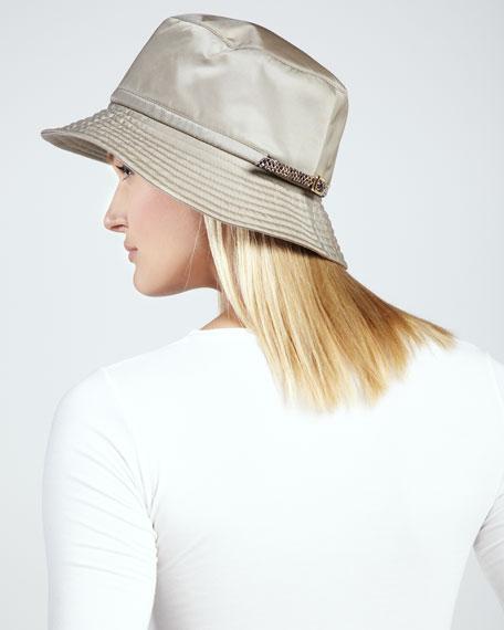Water-Repellant Rain Hat, Taupe