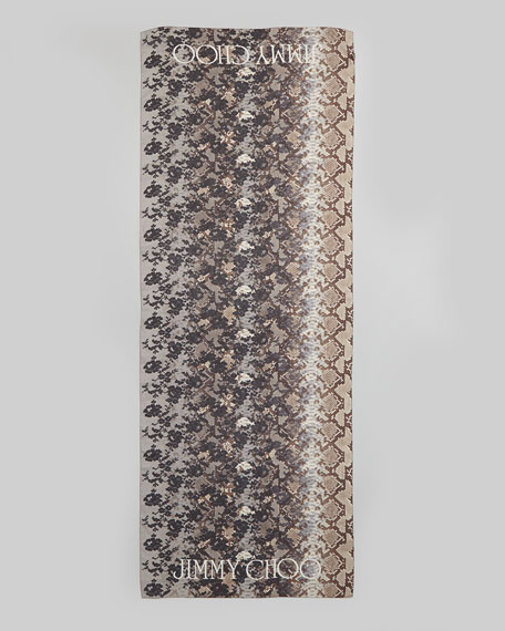 Soma Printed Silk Scarf