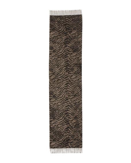 Sciarpa Animal-Print Cashmere Scarf