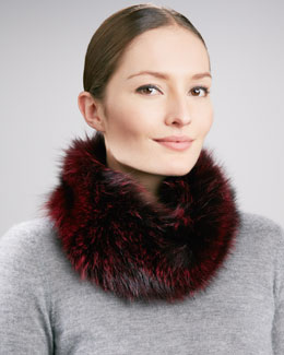 Fox Unlimited Fox Fur Collar, Merlot