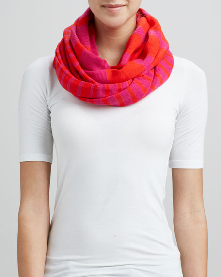 fall in line infinity scarf, snapdragon/orange