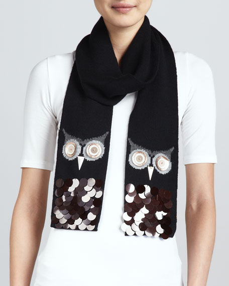 night owl sequin scarf