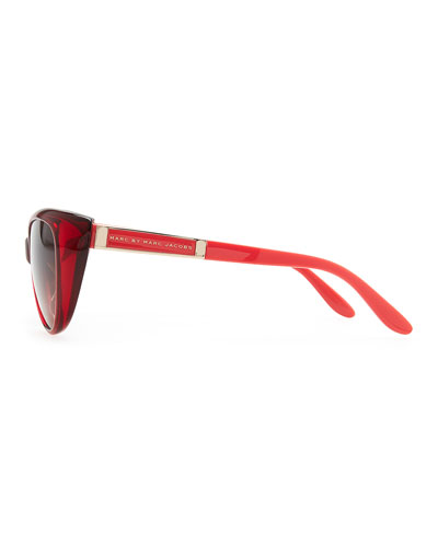 MARC by Marc Jacobs Cat-Eye Sunglasses, Burgundy