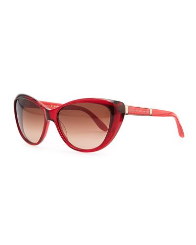 MARC by Marc Jacobs Cat-Eye Sunglasses, Burgundy