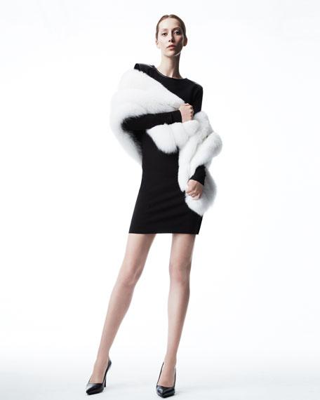 Fox Fur Capelet, White