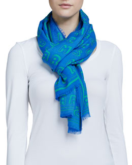 MARC by Marc Jacobs Dynamite Logo Scarf, Blue