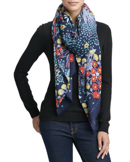 MARC by Marc Jacobs Madeline Botanical-Print Lightweight Scarf