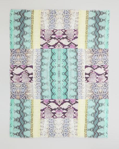 Ananta Snake-Print Cashmere-Blend Scarf