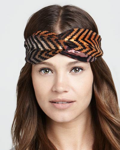 Namrata Joshipura Embroidered Arrow Twist Headband