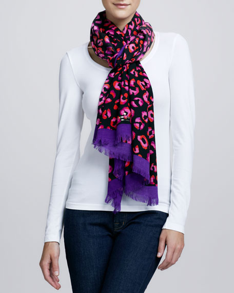 disco animal-print scarf