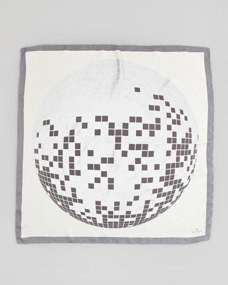 disco ball silk square