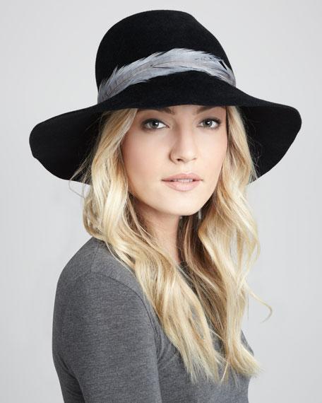 Catherine Angora Hat, Black