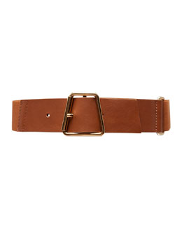 Akris Ai-Buckle Stretch Leather Belt