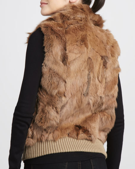 Ziggy Zip-Front Fur Vest