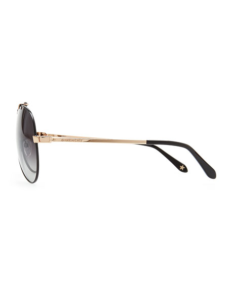 Bar-Detail Aviator Sunglasses