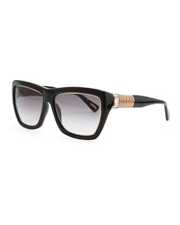 Lanvin Hardware-Temple Plastic Sunglasses