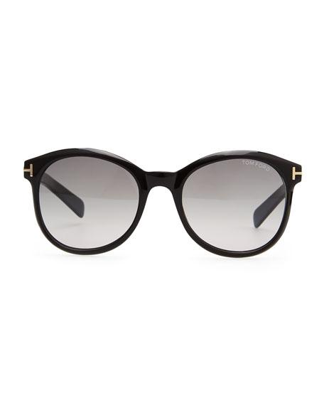 Riley Sunglasses, Shiny Black