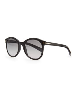 Tom Ford Riley Sunglasses, Shiny Black
