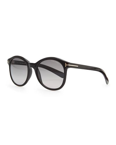 Tom Ford Riley Sunglasses, Shiny Black