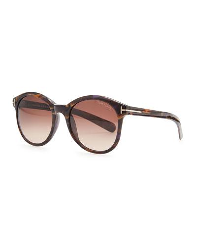 Tom Ford Riley Sunglasses, Brown/Violet