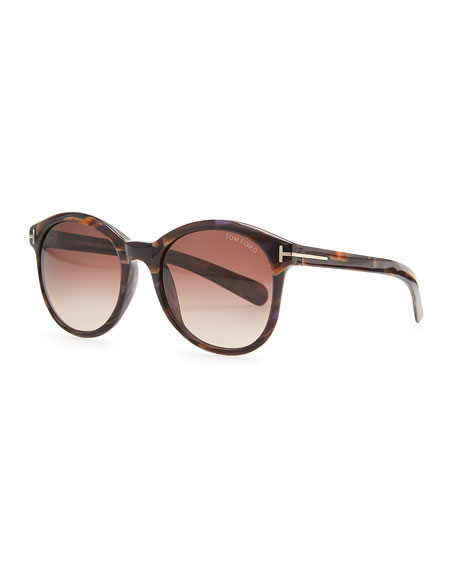 Riley Sunglasses, Brown/Violet