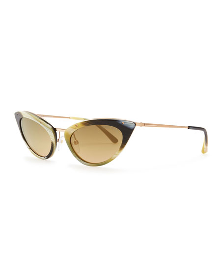 tom ford grace cat eye sunglasses green honey. Cars Review. Best American Auto & Cars Review