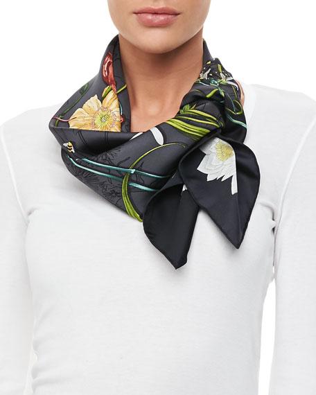 Gucci Chrissy Floral Foulard Scarf 8485fdc9b19