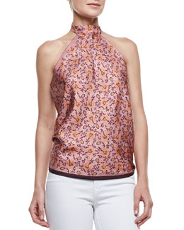 Gucci Nadrien Top, Orange/Pink