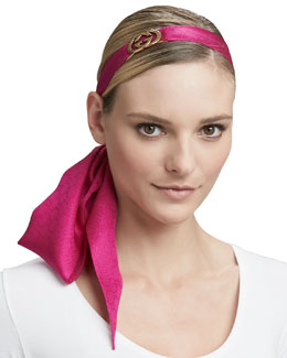 Gucci Necktie/Head Bow with Clasp, Magenta