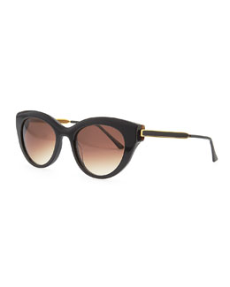 Thierry Lasry Diamondy Acetate Sunglasses, Black