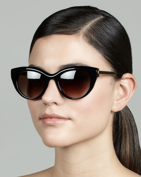 Diamondy Acetate Sunglasses, Black
