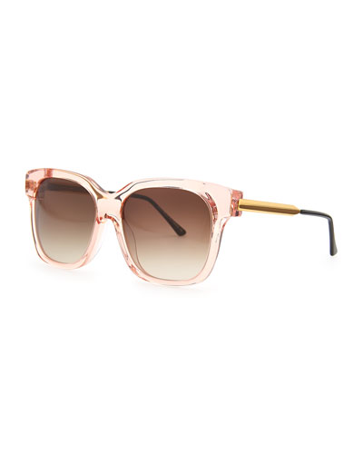Thierry Lasry Rhapsody Transparent Sunglasses, Pink