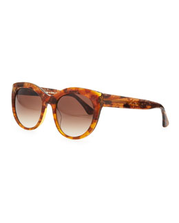 Thierry Lasry Suggesty Horn-Effect Sunglasses, Brown