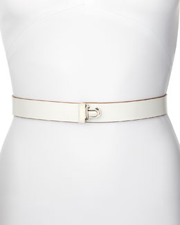 Marni Push-Lock Belt, White