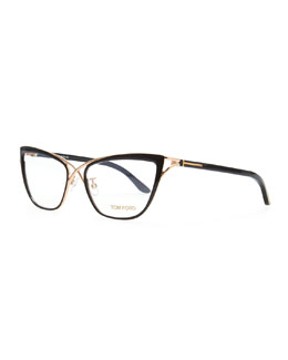 Tom Ford Crossover Cat-Eye Fashion Glasses