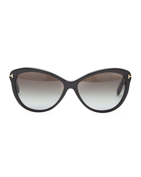 Telma Cat-Eye Sunglasses, Black