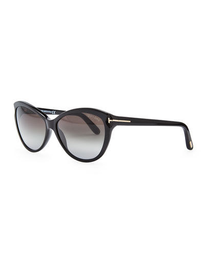 Tom Ford Telma Cat-Eye Sunglasses, Black