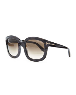 Tom Ford Cristophe Square Sunglasses, Black