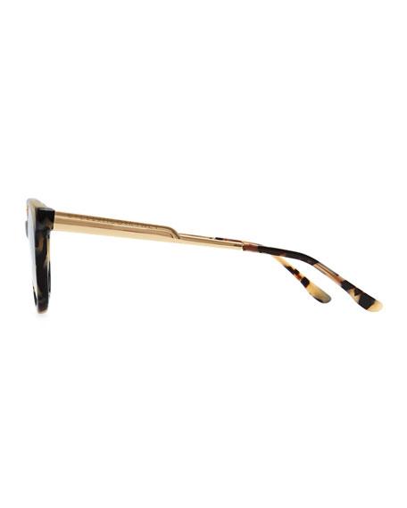 Round Fashion Glasses, Spotty Tortoise