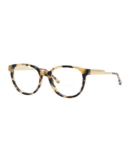 Stella McCartney Round Optical Frames, Spotty Tortoise