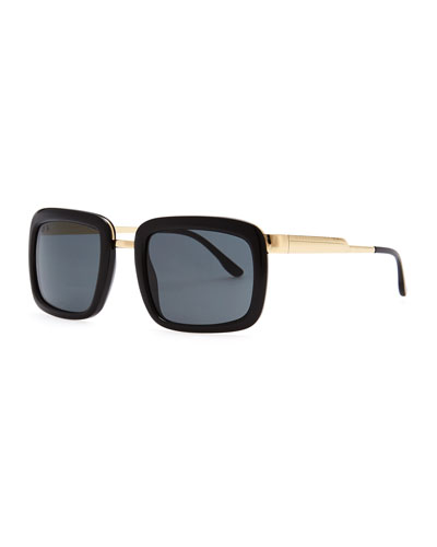 Stella McCartney Chunky Square-Frame Sunglasses, Black
