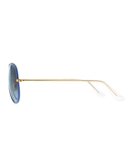 Aviator Gradient Sunglasses, Blue