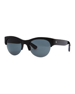 Oliver Peoples Louella Rimless Sunglasses, Black