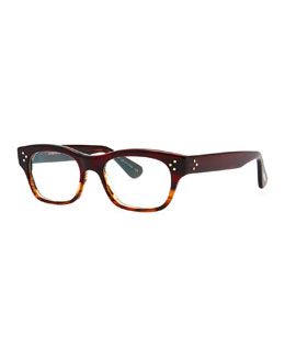 Oliver Peoples Artie Rectangular Optical Frame, Red