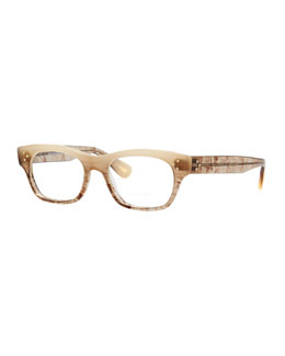 Oliver Peoples Artie Rectangular Optical Frame, Pecan Pie