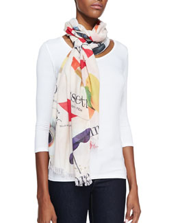kate spade new york italian flash card scarf