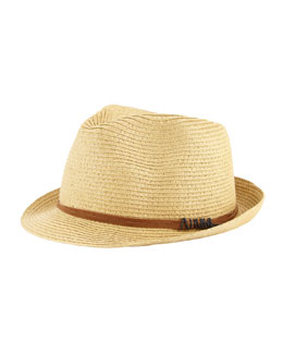 Michael Stars Faux-Suede-Band Fedora, Beige